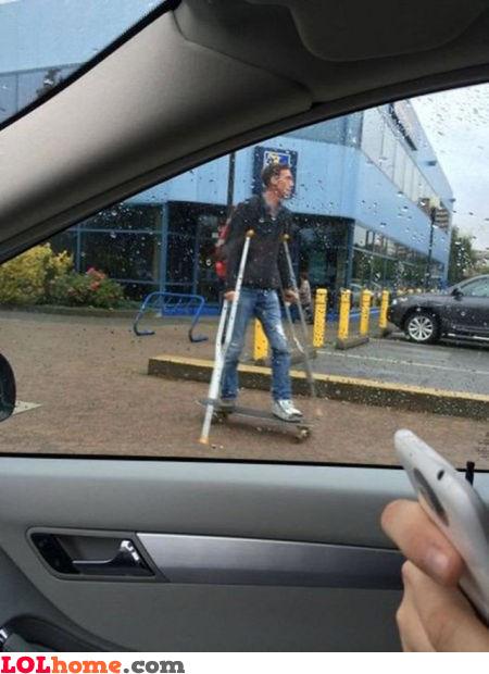 Crutches won't stop me
