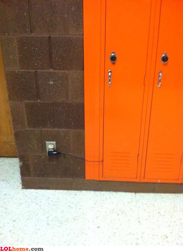 Guess what's hidden in the locker