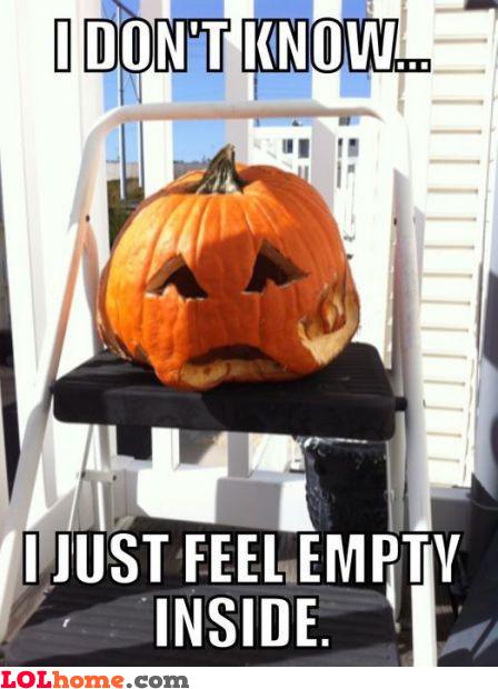 Depressed pumpkin