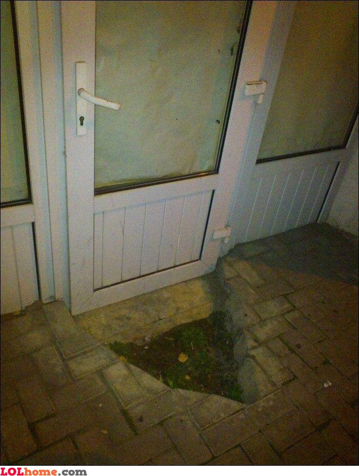 Unplanned door