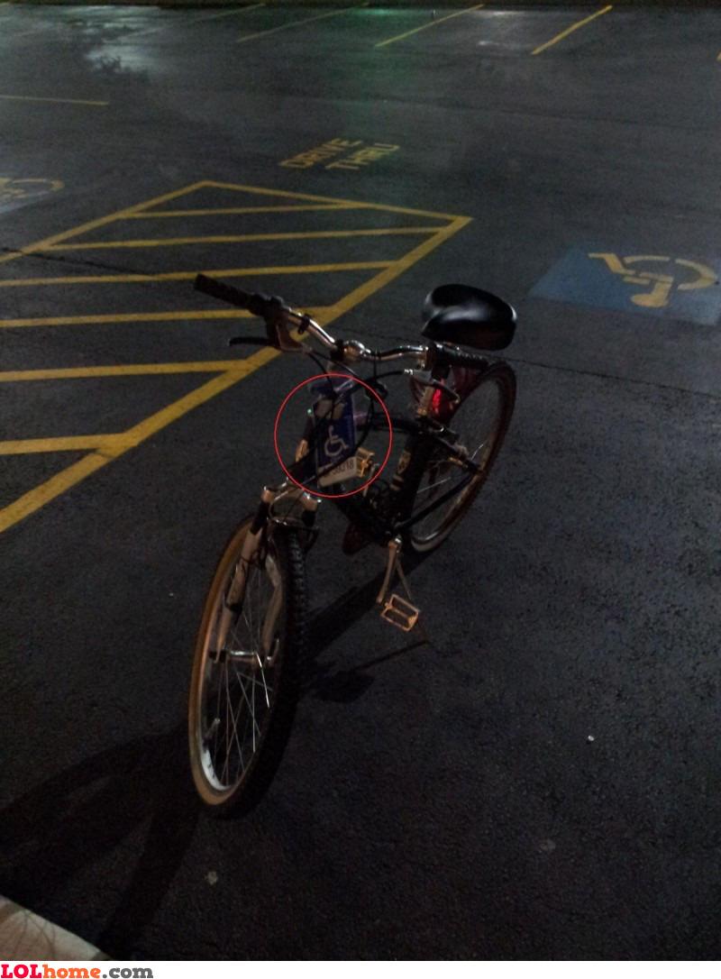 Reserved bike parking