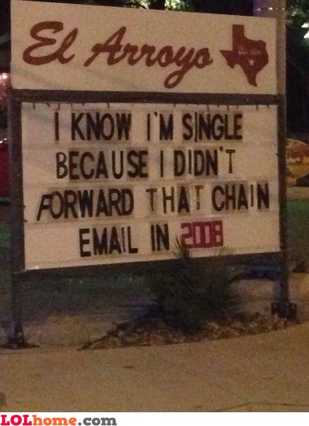 Chain email revenge