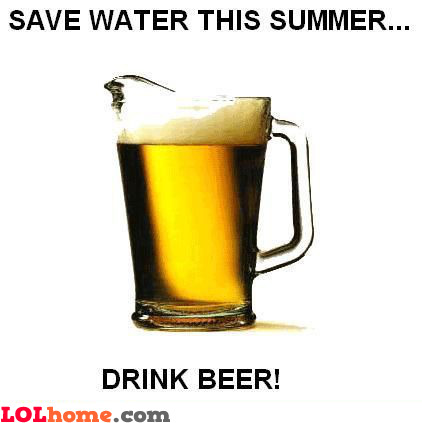 Save water this summer...