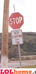 stop, no stopping