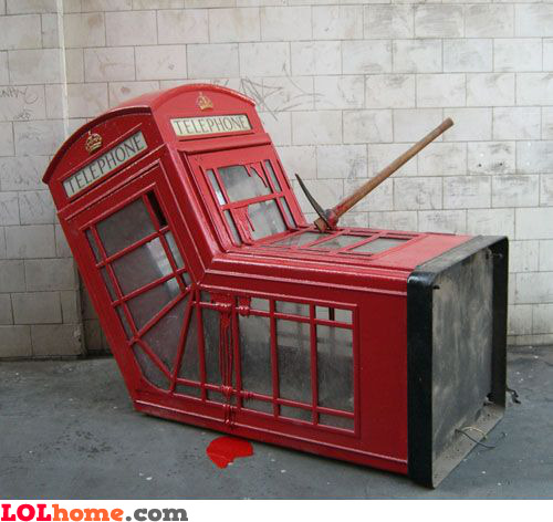 Dead telephone booth