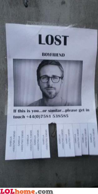 Lost boyfriend