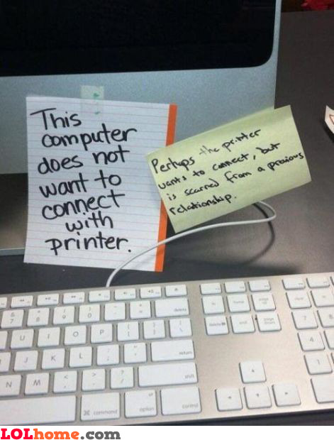 Previous printer relationship