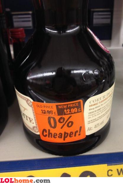 0% cheaper