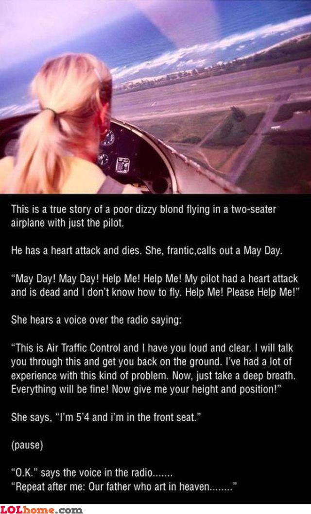 Blonde pilot