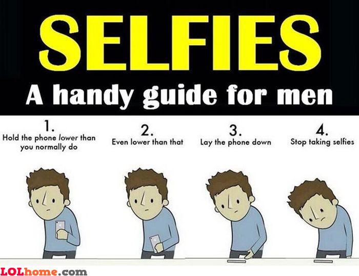 Selfies for men