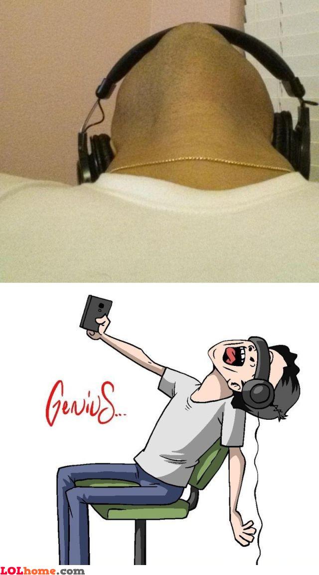 Genius selfie