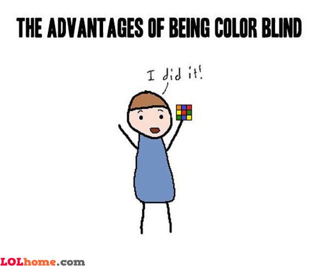 Color blind advantages