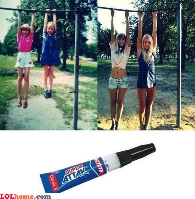 Super glue advertising
