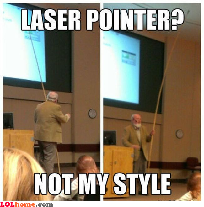 No lasers allowed