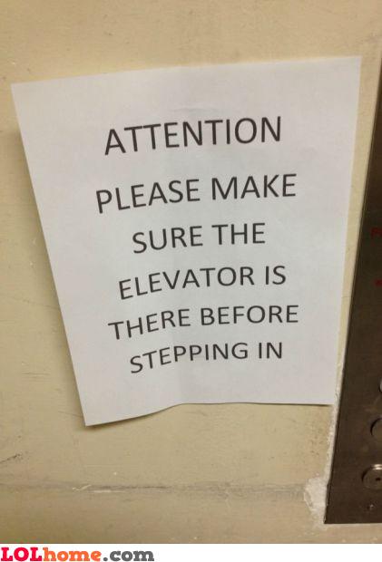 Check elevator