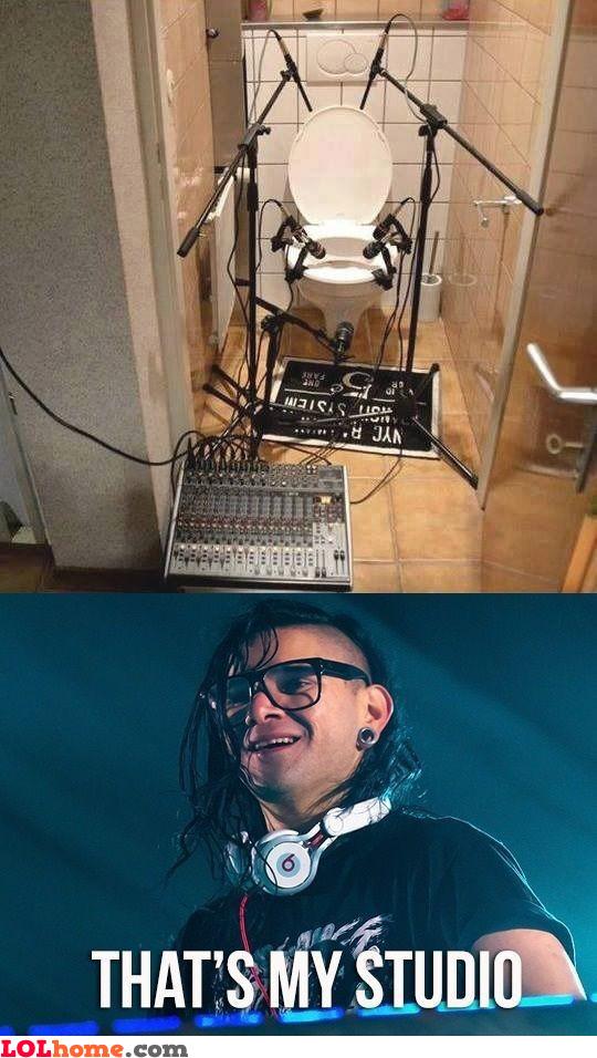 Skrillex's studio