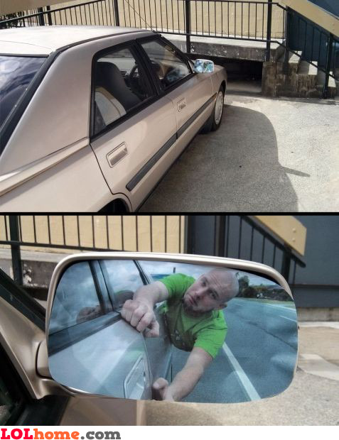 Wing mirror prank