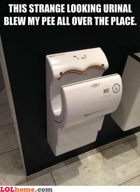 Airblade urinal