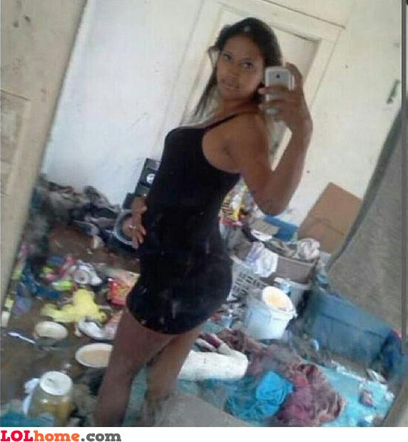 Dumpster selfie