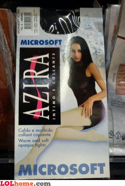 Microsoft tights