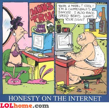 Honesty on the internet
