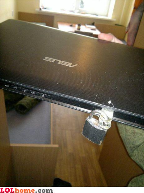 DIY Kensington lock