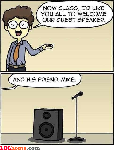 Guest speaker and Mike