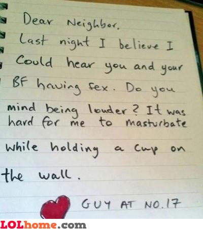 Naughty neighbour