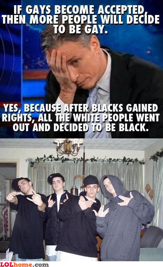 All white men turned black