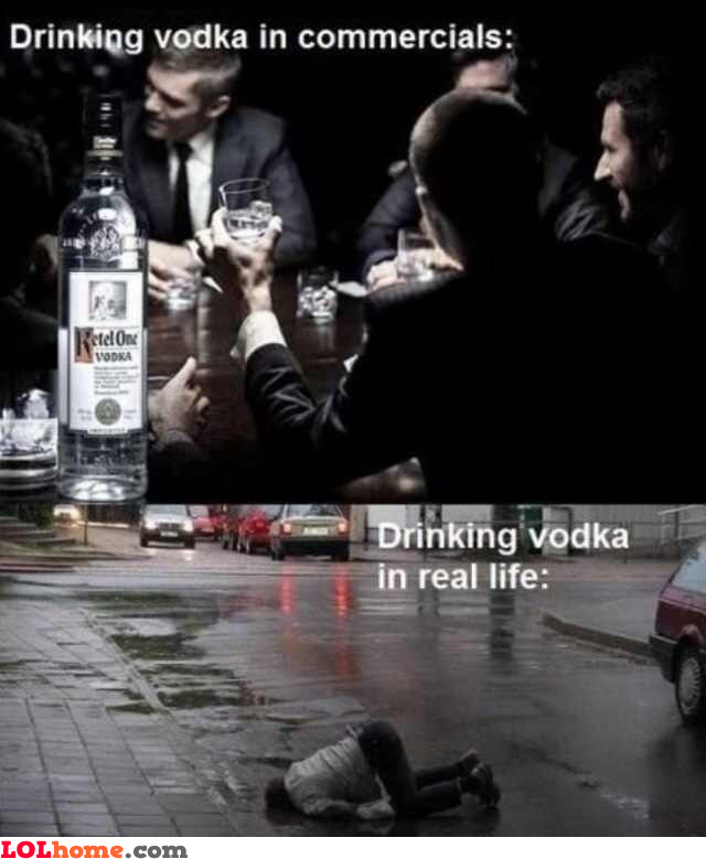 Vodka in real life