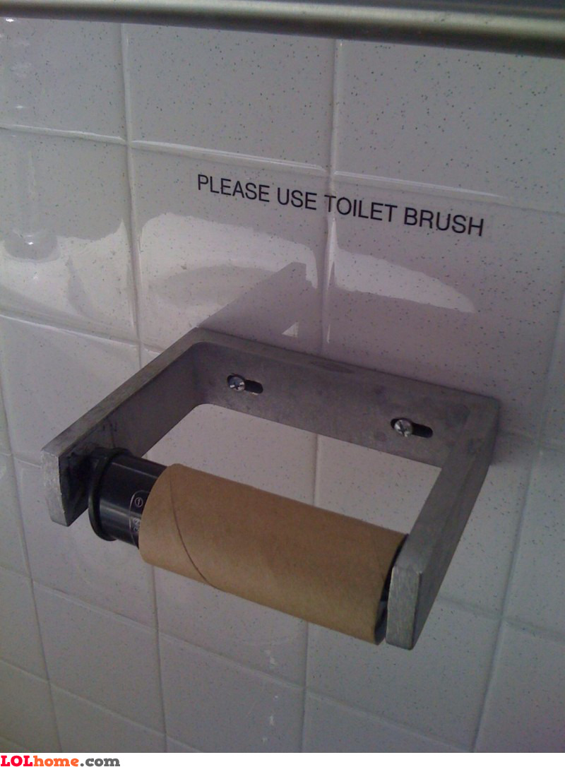 Use toilet brush