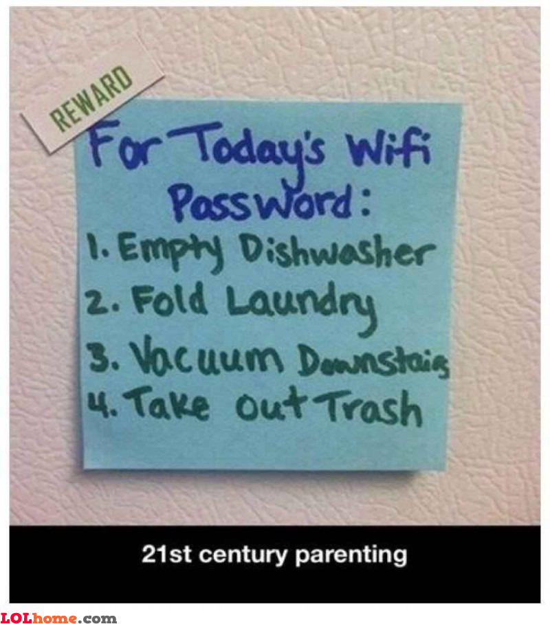Chores for WiFi
