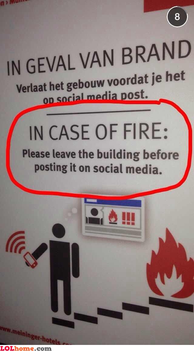 Fire procedures