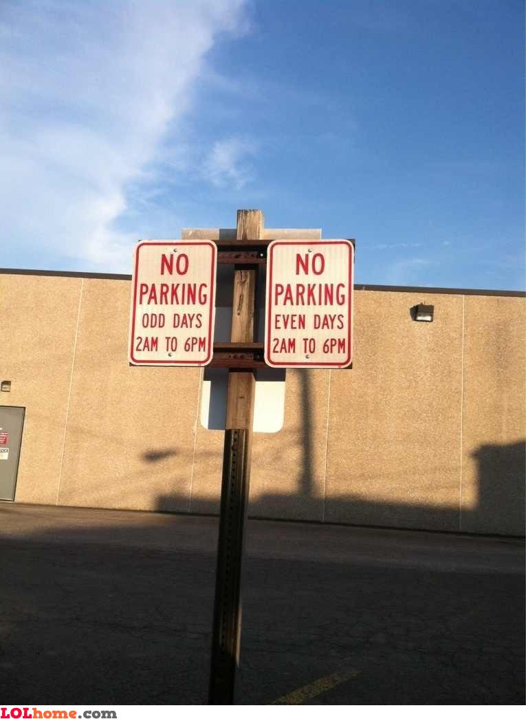 So no parking whatsoever?