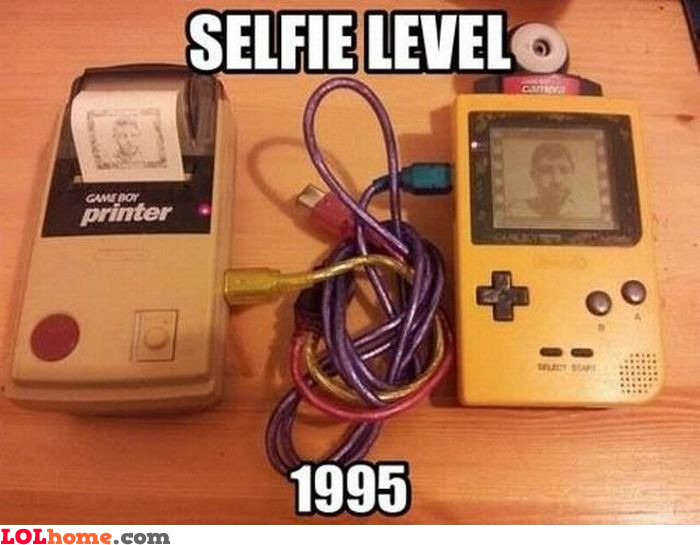 Selfie level 1995