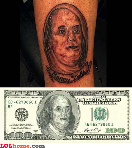 Benjamin Franklin's lookalike
