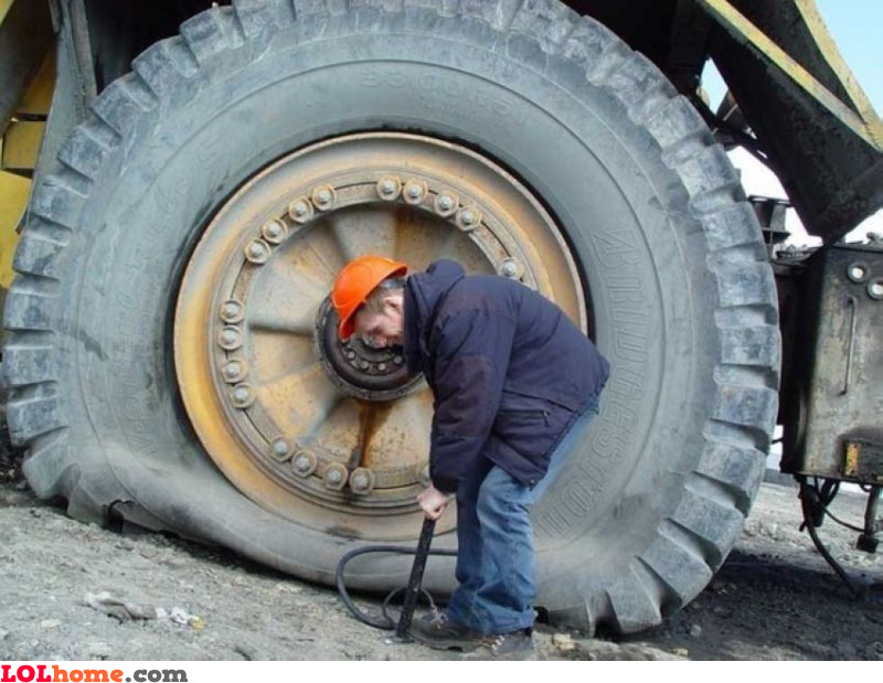 Inflating tires