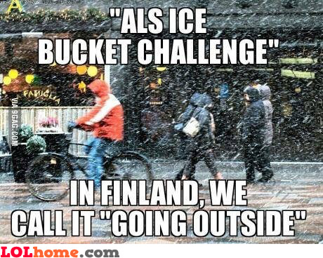 Ice bucket challenge in Finland