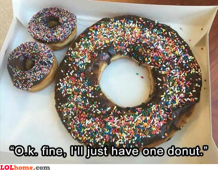 Just one donut