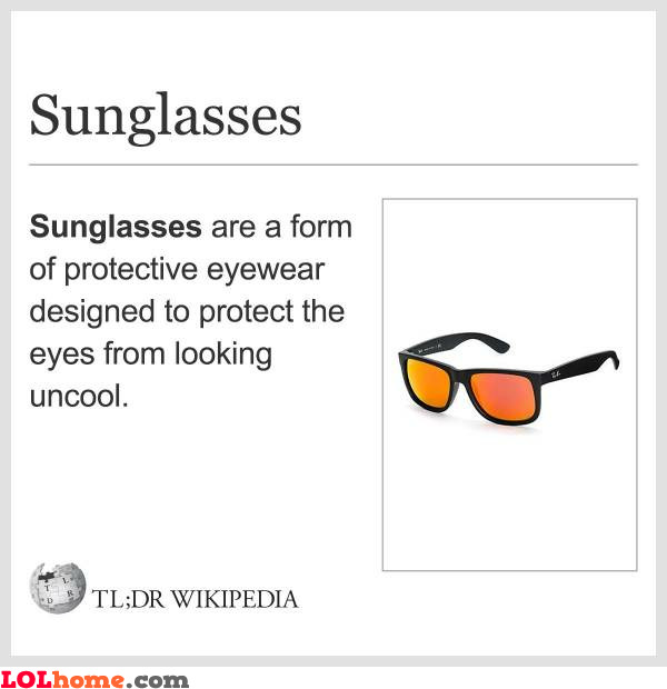 What are sunglasses?