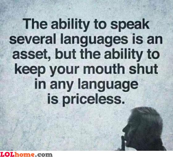 Priceless silence