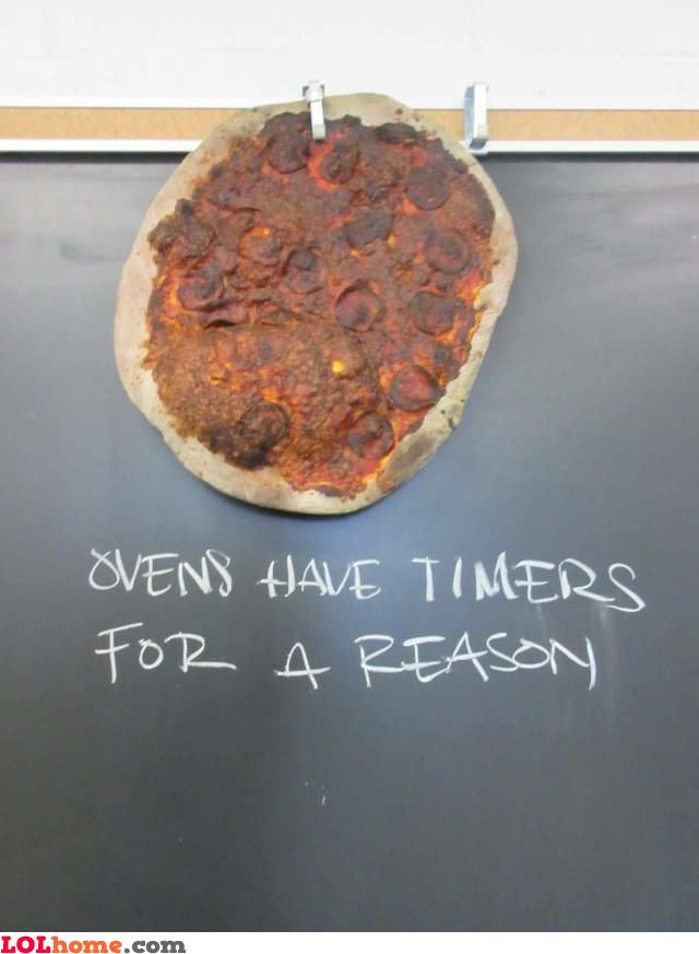 Ovens have timers
