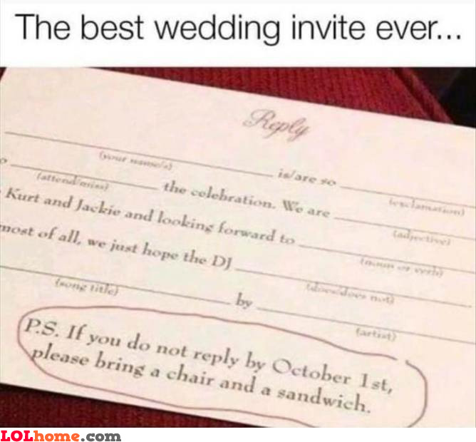Wedding invitation fine print