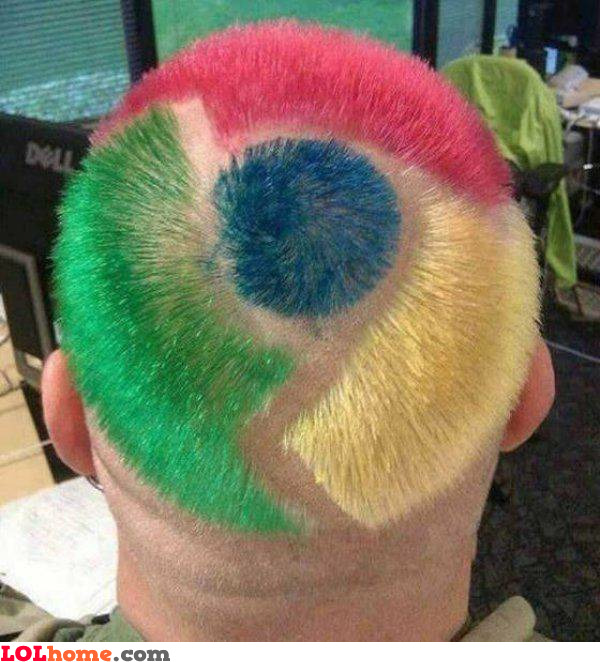 Chrome hairstyle