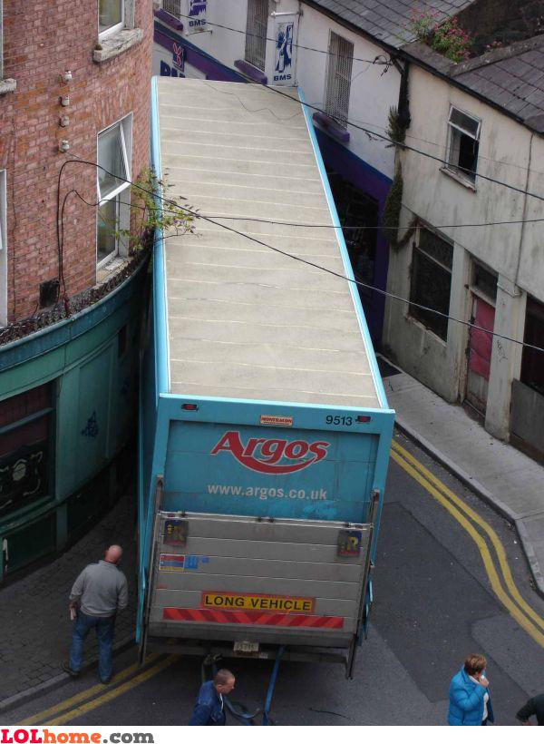 Dont drive it. Argos it!