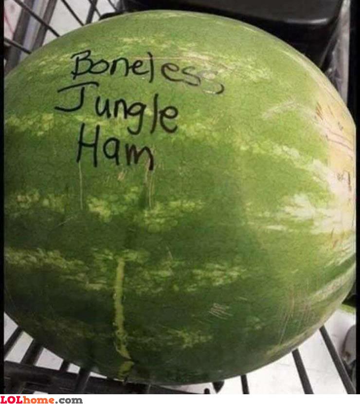 Boneless jungle ham