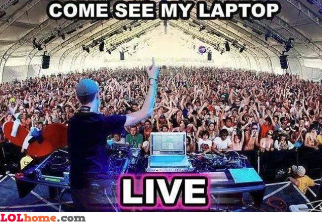 Live laptop