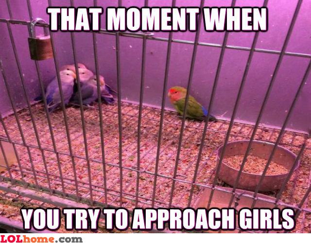 Approaching girls