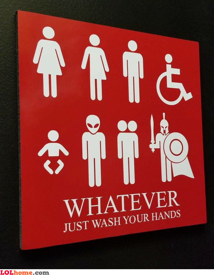Just wash your hands