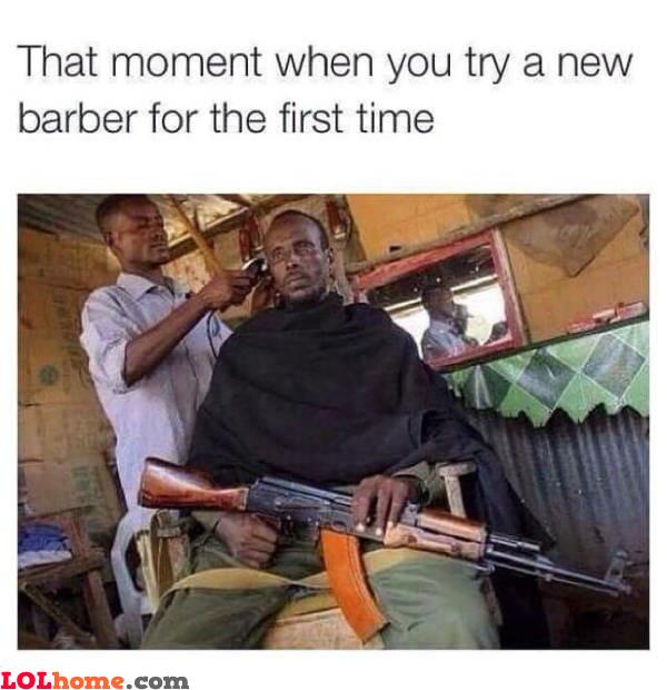 New barber